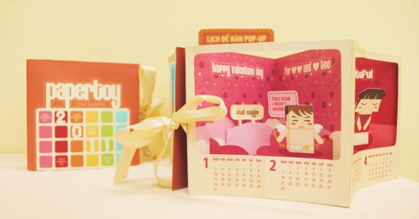 Photo Calendrier en paper toy