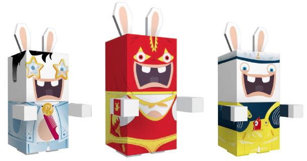 Lapins Crétins en Paper Toy