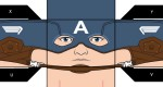 "Paper Toy Captain America ""First Avenger"""