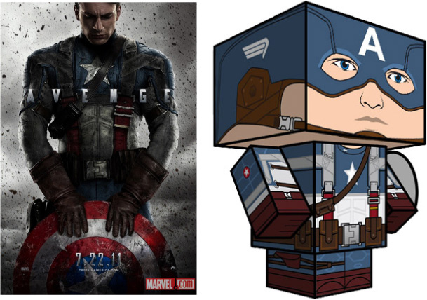Blog Paper Toy papertoy Captain America full Paper Toy Captain America First Avenger