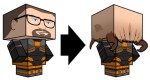 Papertoy Gordon Freeman (x 2)