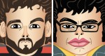 Papertoys Flight of the Conchords (x 2)