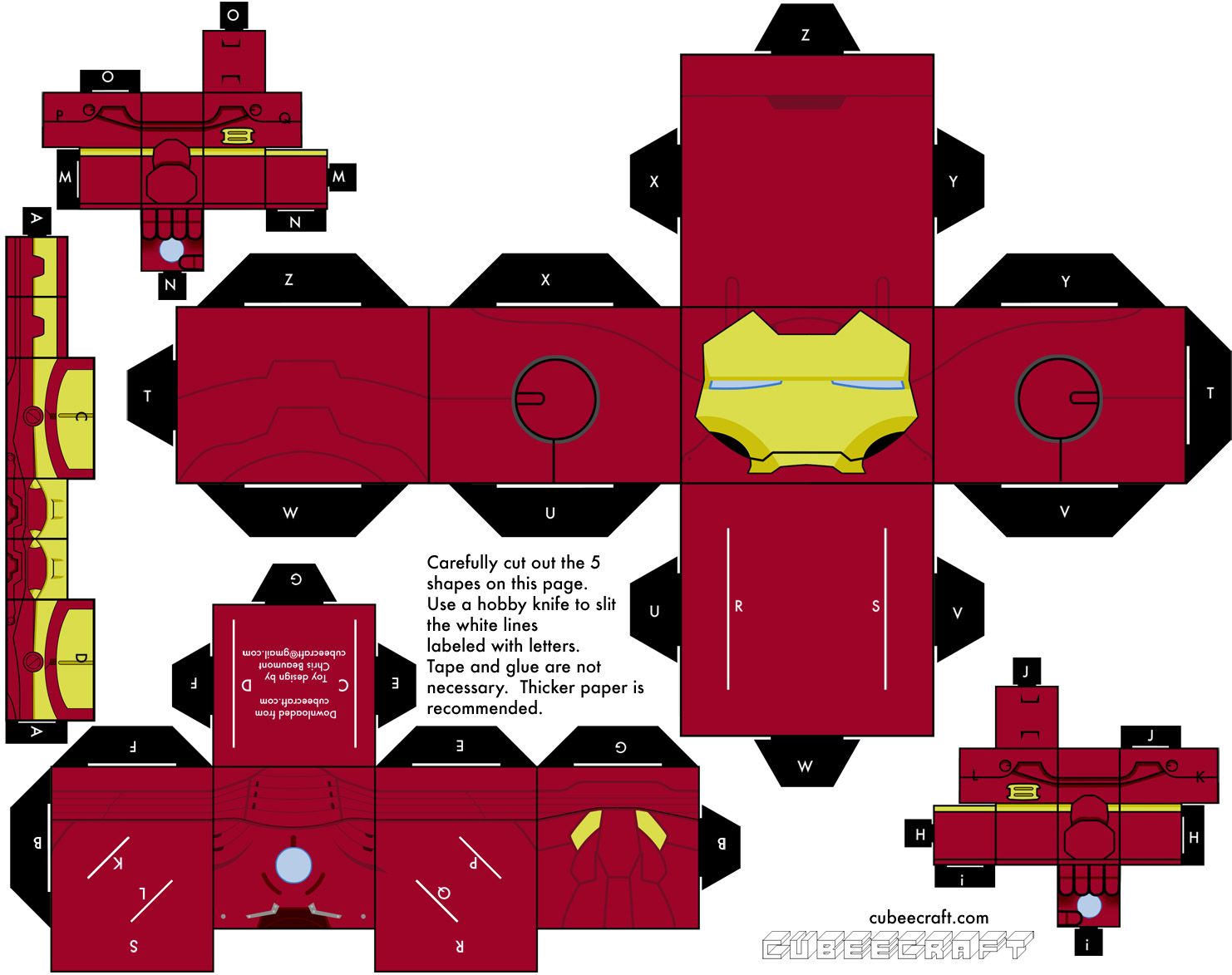 5 Paper Toys Iron Man | Paper-Toy.fr