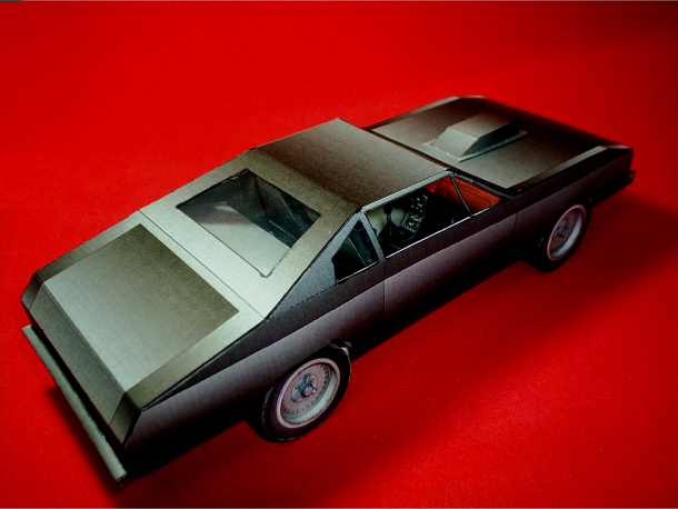 Blog Paper Toy papercraft Chevrolet Chevelle back Papercraft Chevrolet Chevelle 1970