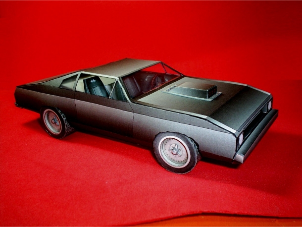 Blog Paper Toy papercraft Chevrolet Chevelle side Papercraft Chevrolet Chevelle 1970