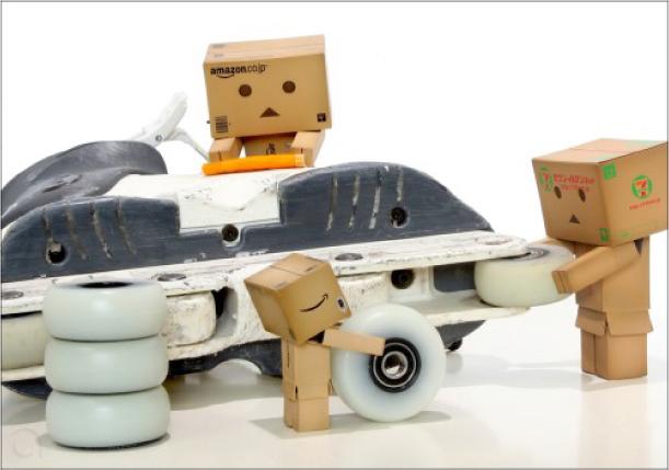 Blog Paper Toy papertoy Danbo roller Danbo, le robot en carton...
