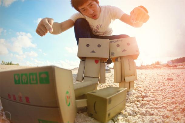 Blog Paper Toy papertoy Danbo sun Danbo, le robot en carton...