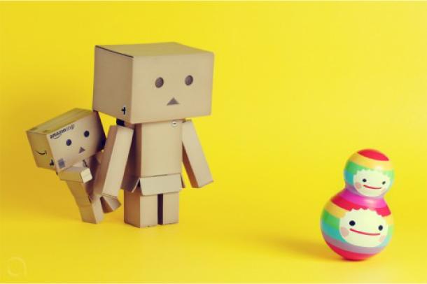 Blog Paper Toy papertoy Danbo yellow Danbo, le robot en carton...