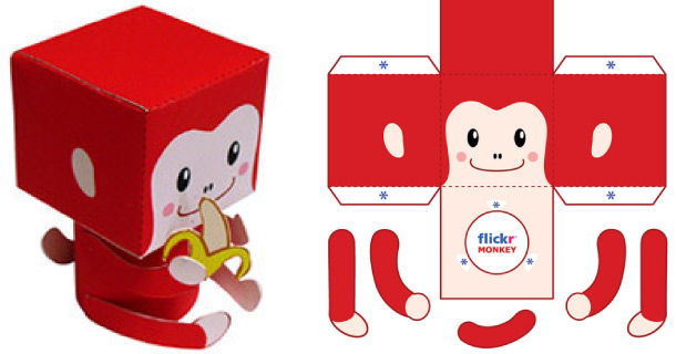 Blog_Paper_Toy_papertoy_Flickr_Red_Monkey