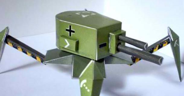 Tank en papercraft