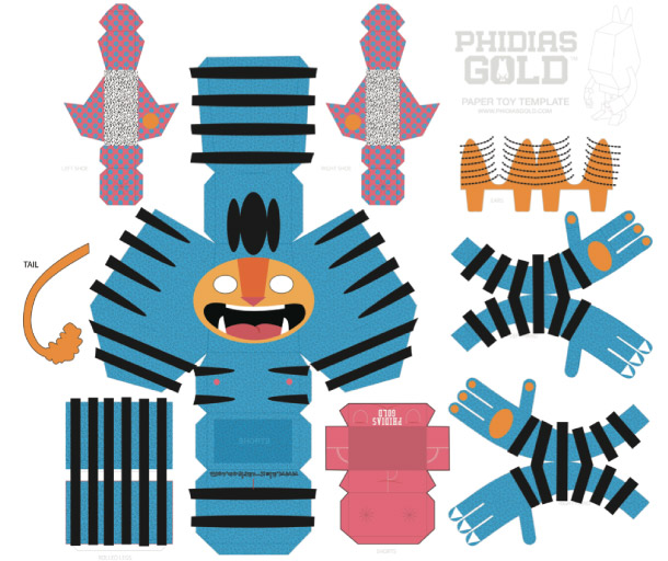 Blog Paper Toy papertoy Phidias Gold Alex Carslon template prev PHIDIAS GOLD Paper Toys (x30 !!!)