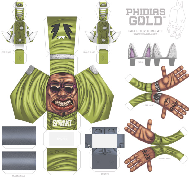 Blog Paper Toy papertoy Phidias Gold Anthony Baez template prev PHIDIAS GOLD Paper Toys (x30 !!!)