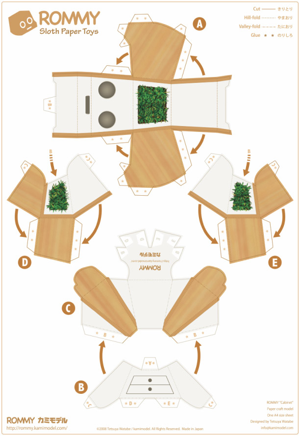 Blog Paper Toy papertoy Rommy cabinet prev Paper Toys Rommy (Collection x 27 !!!)