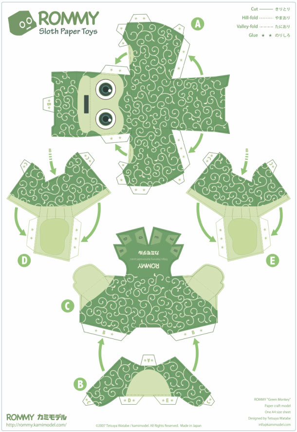 Blog Paper Toy papertoy Rommy greenmonkey prev Paper Toys Rommy (Collection x 27 !!!)
