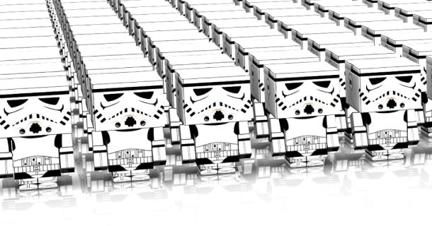 Image papertoys Storm Troopers