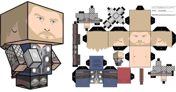 Blog_Paper_Toy_papertoy_Thor_Cubeecraft