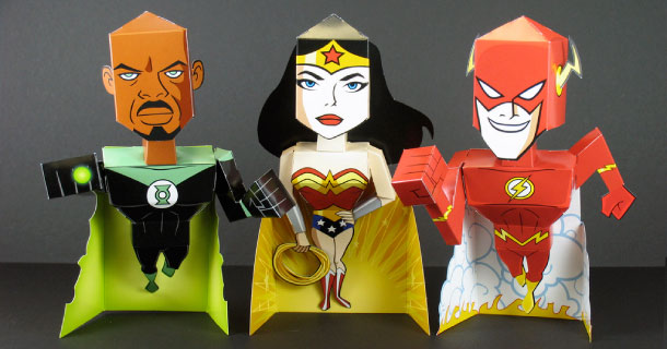 Paper toys Heroes Arby's