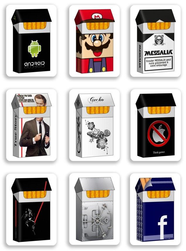 Boite A Paquet De Cigarette papertoys pour fumeurs | paper-toy.fr
