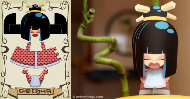 Blog_Paper_Toy_papertoy_Geisha_Jonny_Chiba
