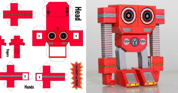 Papertoy Rorobotan De Dyadic Paper Toy Fr
