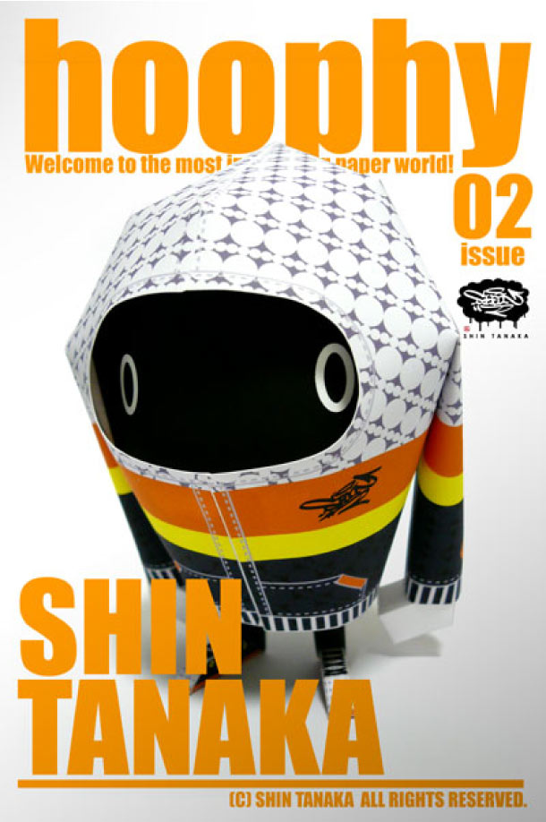 Blog Paper Toy papertoy hoophy 02 Shin Tanaka Papertoys hoophy de Shin Tanaka (x 13)