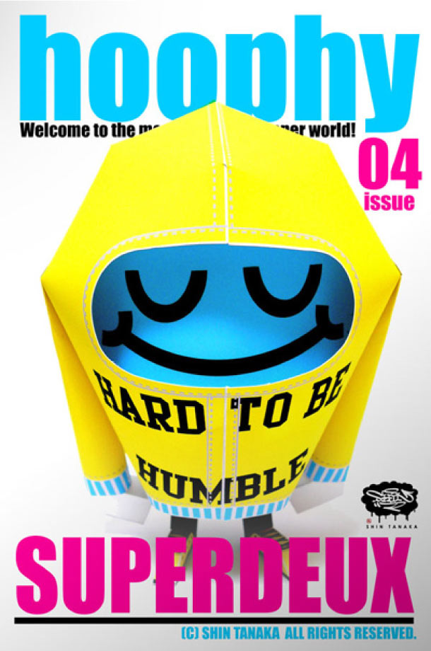 Blog Paper Toy papertoy hoophy 04 SUPERDEUX Papertoys hoophy de Shin Tanaka (x 13)