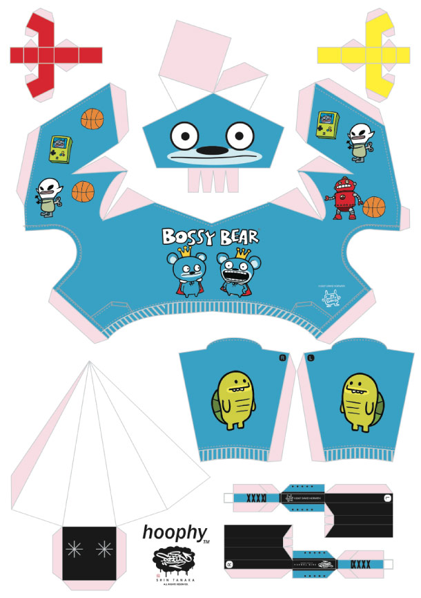 Blog Paper Toy papertoy hoophy 05 David Horvath template prev Papertoys hoophy de Shin Tanaka (x 13)