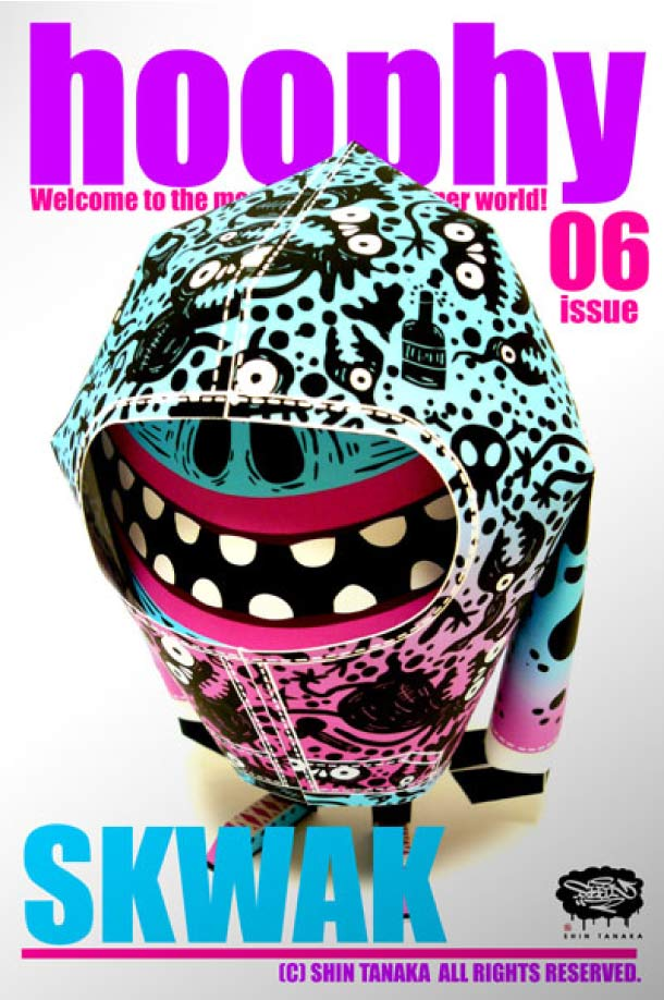 Blog Paper Toy papertoy hoophy 06 SKWAK Papertoys hoophy de Shin Tanaka (x 13)