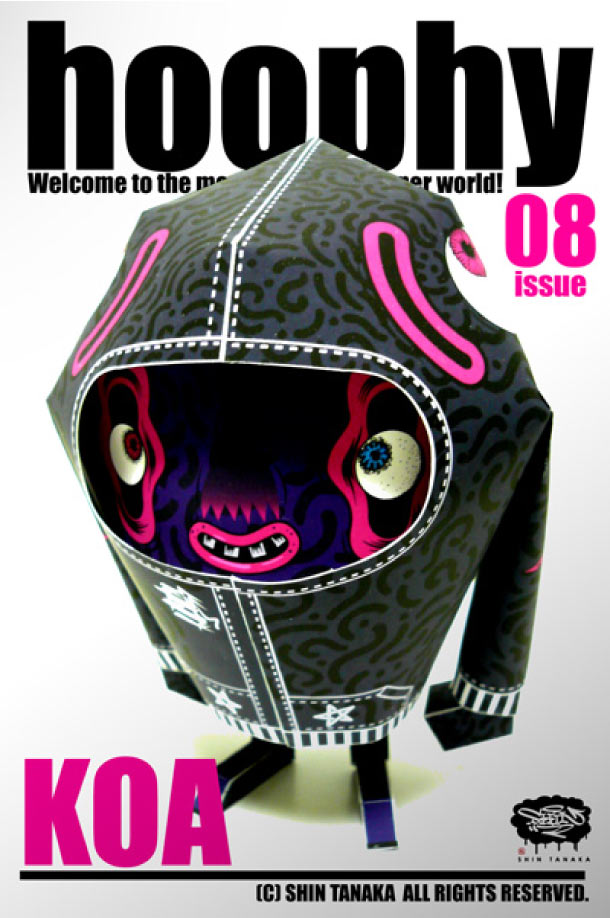 Blog Paper Toy papertoy hoophy 08 KOA Papertoys hoophy de Shin Tanaka (x 13)
