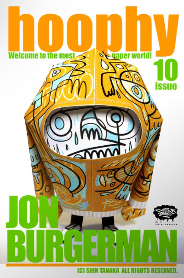 Blog Paper Toy papertoy hoophy 10 Jon Burgerman Papertoys hoophy de Shin Tanaka (x 13)