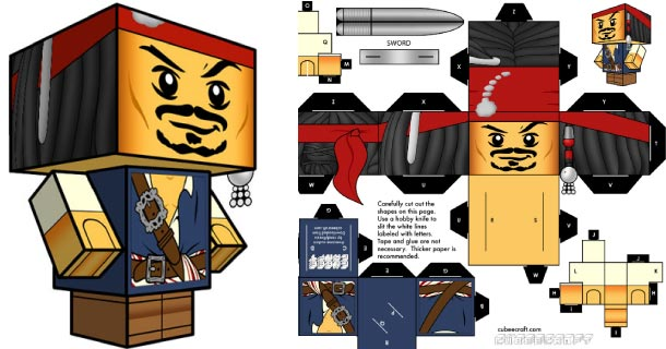 Blog_Paper_Toy_papertoy_Jack_Sparrow_Cubeecraft
