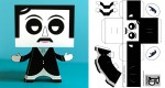 Edgar Allan Poe en papertoy