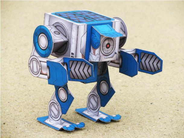 Как сделать робота бумажный робот