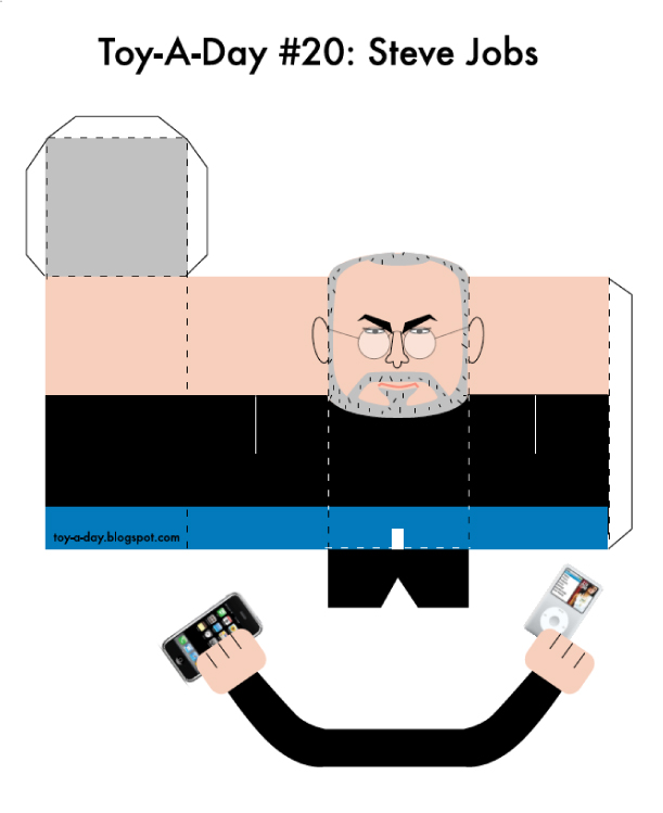 Blog Paper Toy papertoy Steve Jobs TAD template preview Tribute to Steve Jobs (1955   2011)