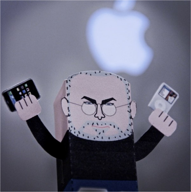 Blog Paper Toy papertoy Steve Jobs pic1 Tribute to Steve Jobs (1955   2011)