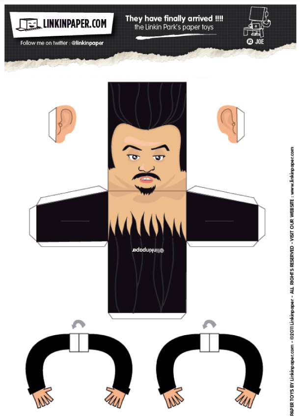 Blog Paper Toy papertoys Linkin Park Joe template preview Papertoys Linkin Park (x 3)