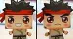 'Mini Ryu' papertoy by Gus Santome