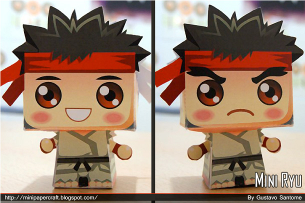 Blog Paper Toy Mini Ryu Gus Santome pic Mini Ryu papertoy by Gus Santome