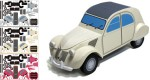 Citro&euml;n 2CV en papercraft (x 3)