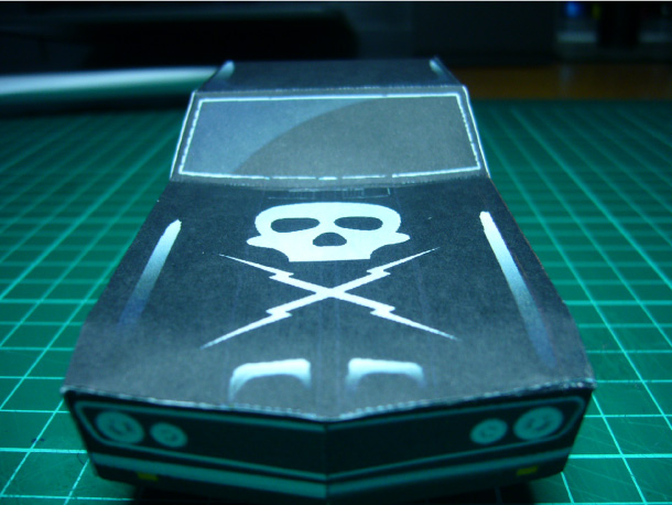 Blog Paper Toy papercraft Death Proof Car pic3 Papercraft Death Proof Car