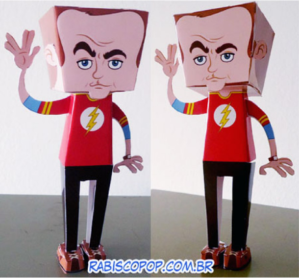 Blog Paper Toy papertoy Big Bang Theory Sheldon Cooper pic Sheldon Cooper en papertoy ^^