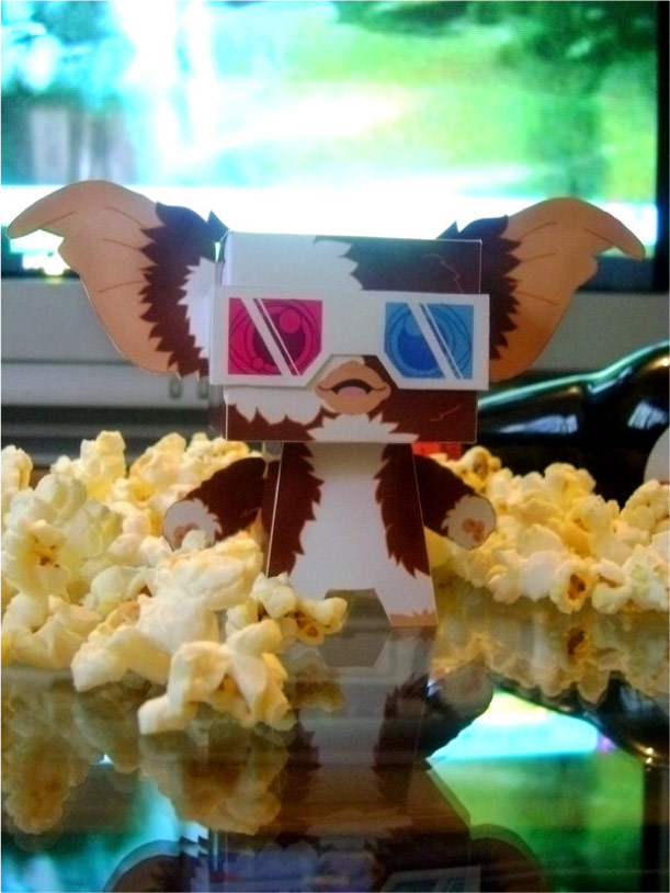 Blog Paper Toy papertoys Gremlins Sercho pic brown Papertoys Gremlins by Sercho (x 2)