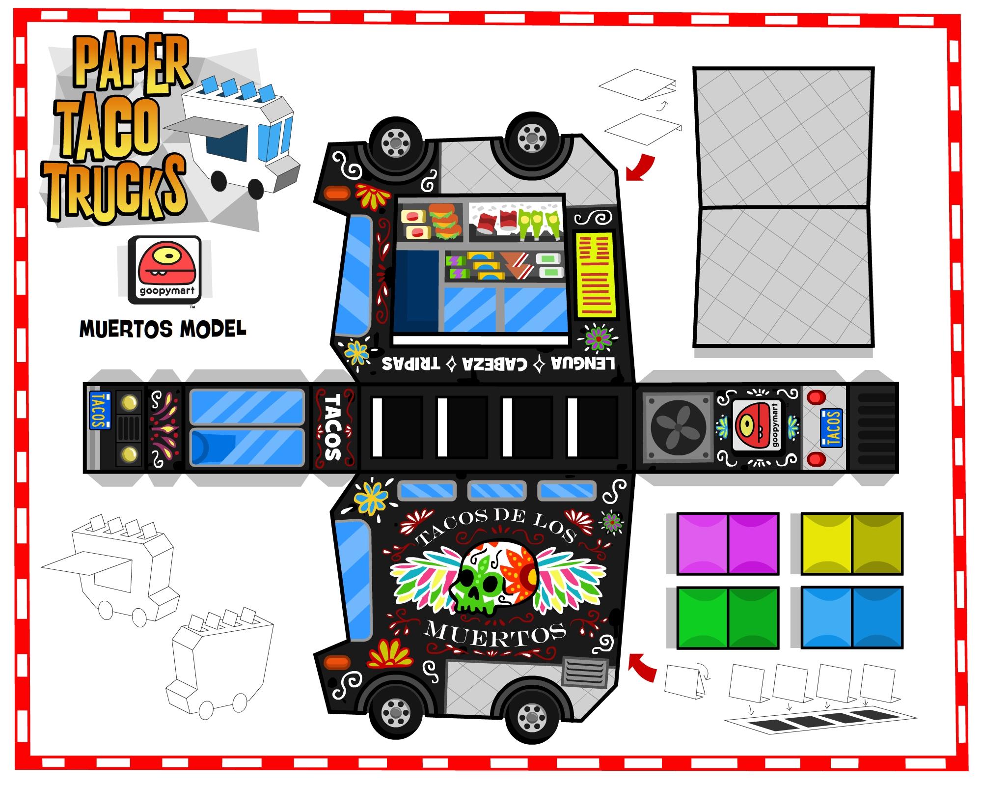 Custom paper service trucks trucks