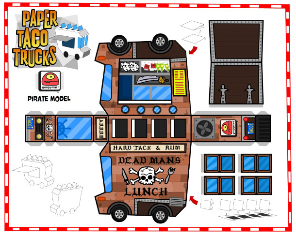 Food Truck Paper Template