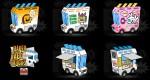 Paper Taco Trucks (x 8)