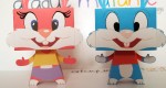 Papertoys Babs & Buster Bunny (x 2)
