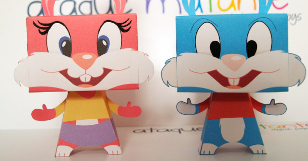 Blog_Paper_Toy_papertoys_Tiny_Toons_Ataque_Mutante