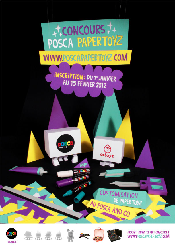 Blog_Paper_Toy_Posca_Papertoyz_Contest_Affiche