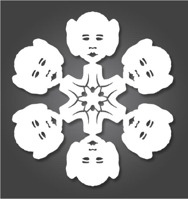 Blog_Paper_Toy_papercraft_Flocons_Star_W
