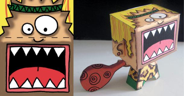 paper toy homme de Cromagnon
